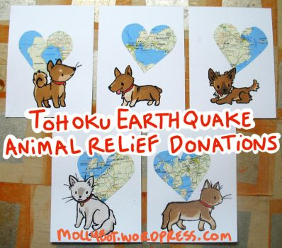 Japan Earthquake Animal Relief by tehzel