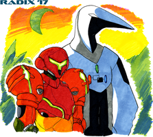 Samus and Thoth by General-RADIX