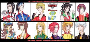 Cars 2 Gijinka The Racers. by Shadoru-Flames