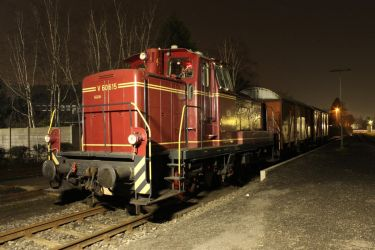 Historic (50s) german Goods Train at Night by Warlord103