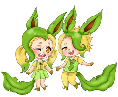 Leafeon Transparent by DreamySheepStudios