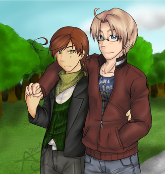 Romerica: Park Walk. by 1010Amy-Kia