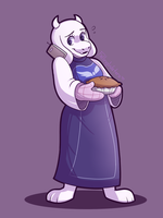 Toriel - Day 2 by FallingWaterx