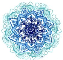 blue shades mandala by yael360