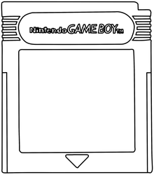 Game Boy Cartridge Template by vg-tails