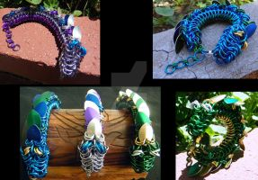 Chainmail Dragon Bracelets by ChainedBeauty