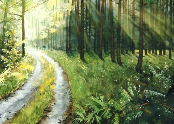 Forest road by JoaRosa