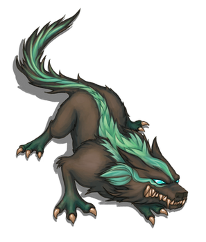 Free Enemy Art Resource - Preview - Fantasy Wolf by ProjectPixelChest