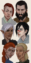 Dragon Age characters by dreNerd