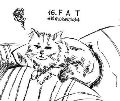 Inktober 16.Fat by Arzhula
