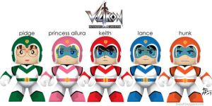 Voltron Mighty Mugg Customs by Reysdf