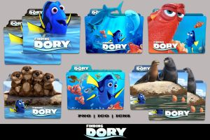 Finding Dory (2016) Folder Icon Pack by Bl4CKSL4YER
