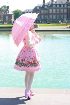 Pink Summer Walk at the sea by SweetManiacDeluxe
