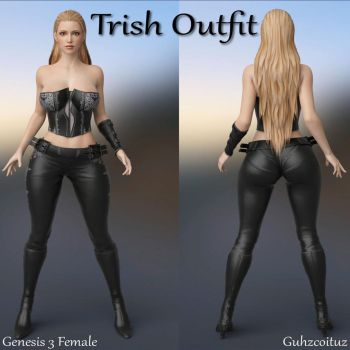 Trish Outfit for Genesis 3 Female by guhzcoituz