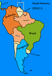 South America (Texan Universe) by Goliath-Maps