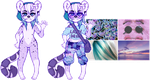 aesthetic adopt reveal: hazy purple cheetah by flvffy