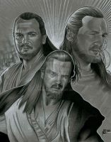 Qui-Gon Collage by prmedia