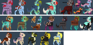 Slick's Puppy Pack by TwinWolfSister