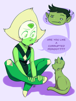 FF: Peridot And Beast Boy by pianobelt0