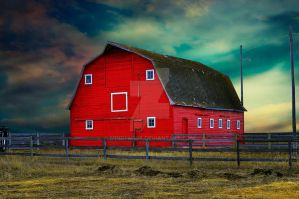 The Red Barn by mindym306