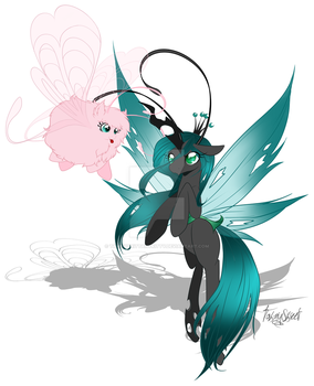 FluffleChrysalis breezies by TawnyBrittanyKitty