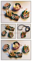 Miniature food plates by Gimmeswords