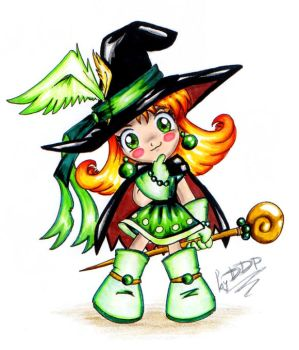 A chibi magician girl by Exarrdian