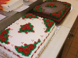 Rose Cakes by Nimhel