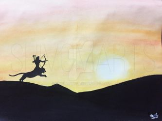 Silhouette Art of Manikanta by shivomarts