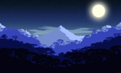 Moonlight mountain by Genius6661313