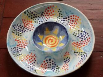 Rainbow Serpent Platter - Fired by 2lbox