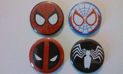 Marvel Buttons - Spider set by MaverickTears