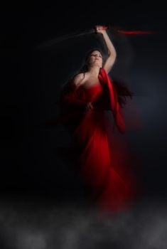 GUERRIERA IN ROSSO by bandac