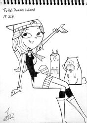 Day 23 - Total Drama island - Inktober2018 by Andres2610