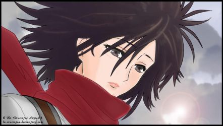 In this Beautiful and Cruel World~ Mikasa by La-cruciatus