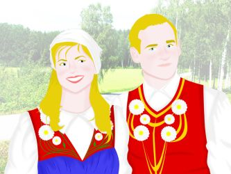 Traditional Swedish Couple by ArsalanKhanArtist