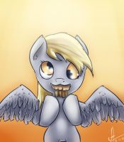 Derpy and muffin by 1Vladislav