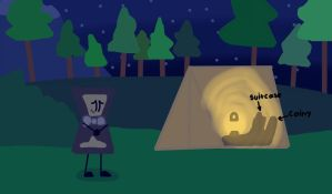 Camping with Coiny and Suitcase (REQUEST) by Sugar-CreatorOfSFDI