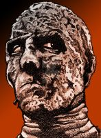 Christopher Lee in The Mummy by monsterartist