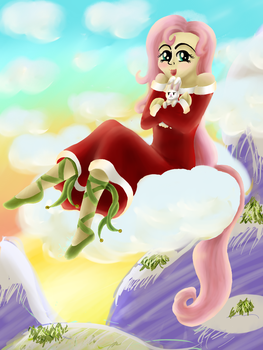 Happy Christmas from Fluttershy! by Tenno-chan