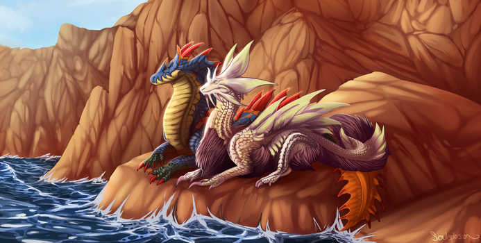 [C] Chillin by the Sea for RaeThalis by Soulsplosion