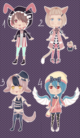 Adoptable Batch 2 [CLOSED] by Dehybi-Adopts