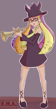 Ink Theory Trumpet Girl by emptyhouseart