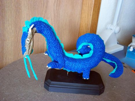 Sculpted Polymer Clay Chinese Dragon by ThatDarkholderGuy