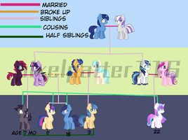 Mlp family charts: sparkle family by Pixelpatter116