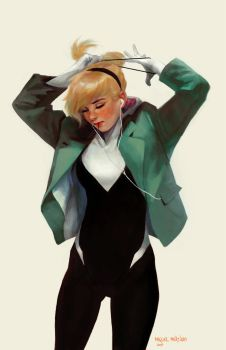 Gwen Stacy: Ponytail by merkymerx