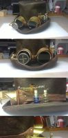 Steampunk Hunter goggles on western tophat by Arsenal-Best