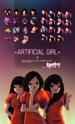 +ARTIFICIAL GIRL+ Icon Set by Raindropmemory
