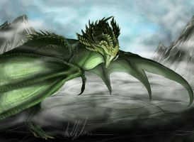 High Mountain Dragon by quinnk