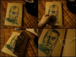 Sketchbook design: Iron Man by blessyo4